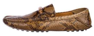 Gucci Alligator Bamboo Horsebit Driving Loafers w/ Tags