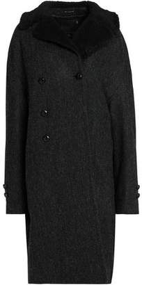 R 13 Double-Breasted Herringbone Wool Coat