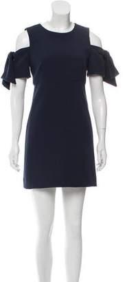 Milly Cold-Shoulder Mini Dress