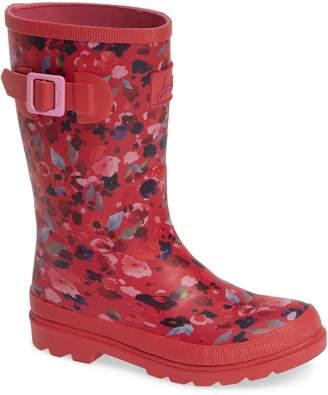 Joules Mid Height Print Welly Waterproof Rain Boot