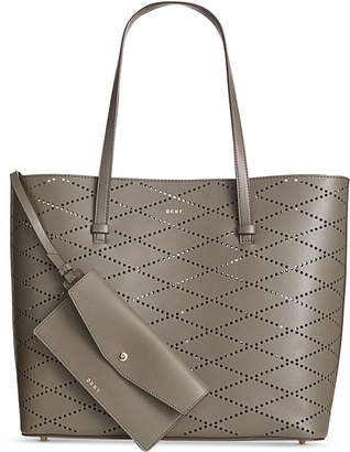 DKNY Marley Diamond-Perforated Tote, Created for Macy's