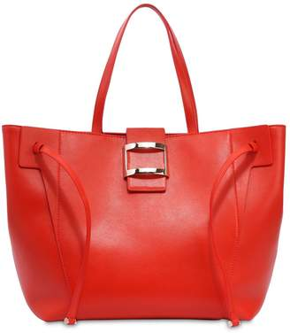 Roger Vivier Large Viv' Leather Tote Bag
