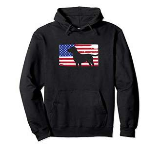 Lab American Flag Hoodie Patriotic Dog Gift USA