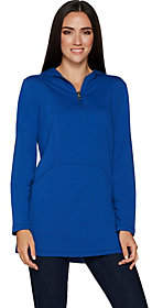Susan Graver Weekend French Terry Hooded Tunic