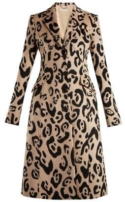 Driss Leopard Print Wool Coat - Womens - Leopard