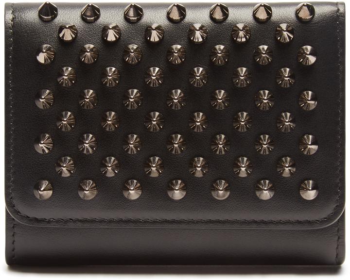 Christian Louboutin CHRISTIAN LOUBOUTIN Macaron spike-embellished leather wallet