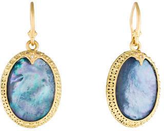 ArmentaArmenta Diamond Old World Carved Oval Drop Earrings