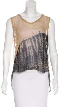 Raquel Allegra Silk Tie-Dye Top