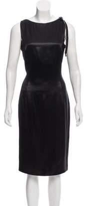 John Galliano Zip-Trimmed Satin Dress