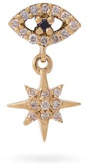 Ileana Makri Eye Star 18kt Gold, Sapphire And Diamond Earring - Womens - Gold