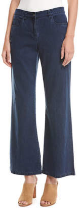 Eileen Fisher Tencel® Denim Wide-Leg Pants, Midnight $198 thestylecure.com