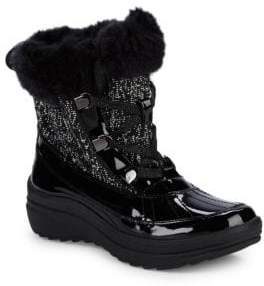 Sport Gaya Faux Fur-Trimmed Lace-Up Boots