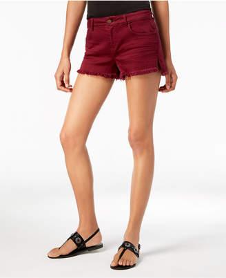 Vanilla Star Juniors' Frayed Ripped Denim Shorts