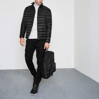 River Island Black funnel neck puffer jacket
