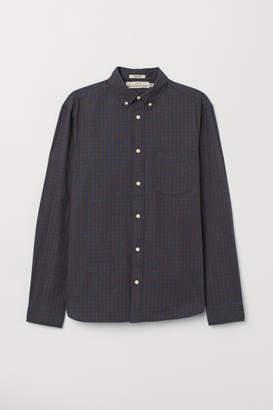 H&M Regular Fit Oxford Shirt - Brown