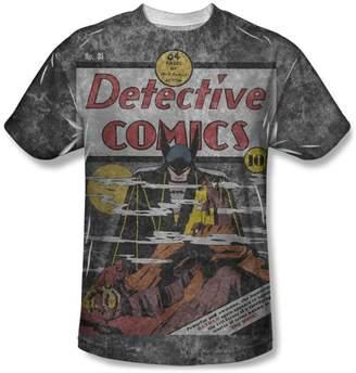 3.1 Phillip Lim DC Comics Detective Retro Cover Batman vs Vampire Adult Front Print T-Shirt