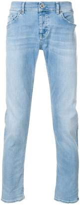 Dondup frayed faded slim-fit jeans