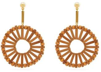 Cult Gaia Eva Bamboo Earrings - Womens - Brown