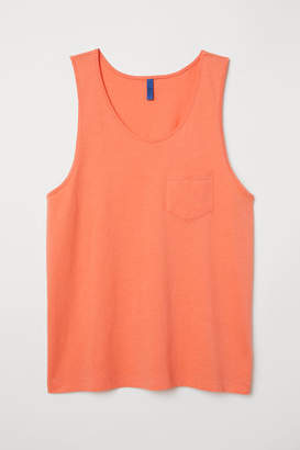 H&M Tank Top with Chest Pocket - Red