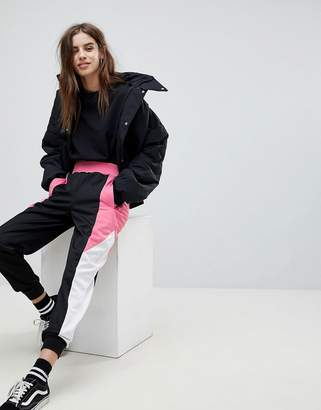 Asos Design Track Pant with Colour Block Side Panels