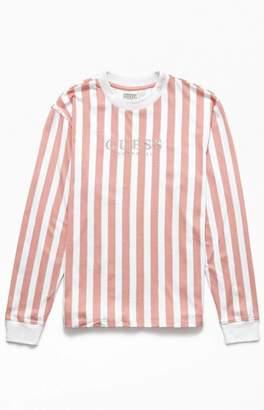GUESS 81 Go Vertical Striped Long Sleeve T-Shirt