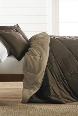 IENJOY HOME Treat Yourself To The Ultimate Down Alternative Reversible 3-Piece Comforter Set - Taupe - King