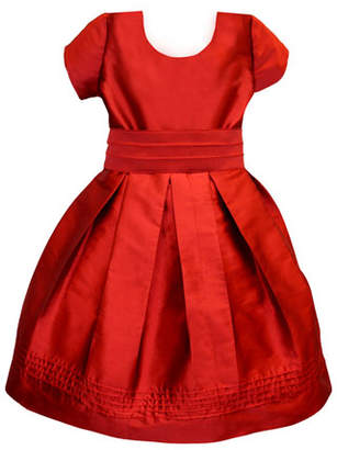 Isabel Garreton Pintucked Taffeta Dress, Size 4-6
