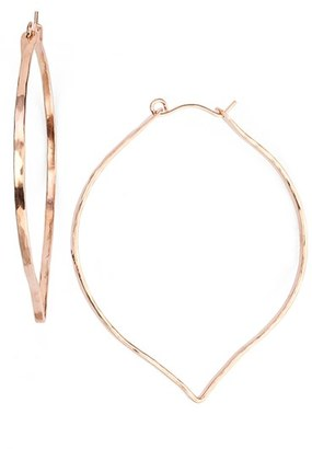 Women's Ija 'Large' 14K-Rose Gold Fill Lotus Hoop Earrings $118 thestylecure.com