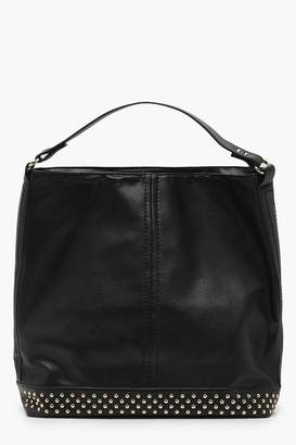 boohoo Studded Base Hobo Day Bag