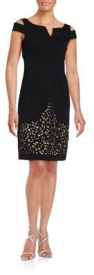 Nue By Shani Cold Shoulder Cutout Sheath Dress $336 thestylecure.com