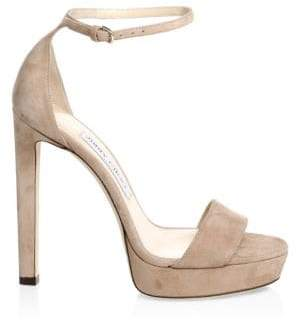 Jimmy Choo Women's Misty Suede Ankle-Strap Sandals - Ballet Pink - Size 36 (6)
