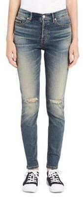 Calvin Klein High-Rise Straight-Leg Ankle Jeans