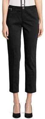 Karl Lagerfeld Paris Zip-Trim Skinny Crop Pants