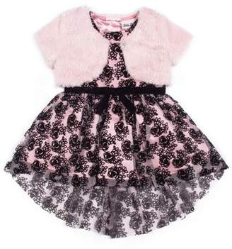 Little Lass Floral Special Occasion Holiday Dress with Shrug, 2pc Set (Baby Girls & Toddler Girls)