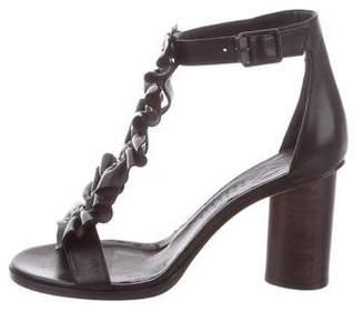 Zero Maria Cornejo T-Strap Leather Sandals w/ Tags