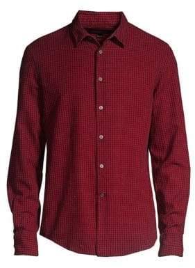 John Varvatos Checked Button-Down Shirt
