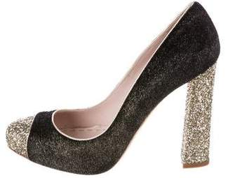 Miu Miu Metallic Cap-Toe Pumps