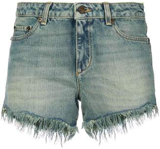 Saint Laurent distressed ripped shorts