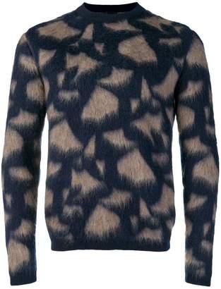 Giorgio Armani fragment fluffy knit jumper