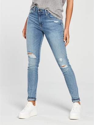 Levi's 721 High Rise Skinny Ripped Jean