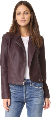 cupcakes and cashmere Joslyn Washed Vegan Leather Moto Jacket $145 thestylecure.com