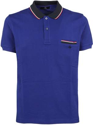 Fay Striped Trim Polo Shirt