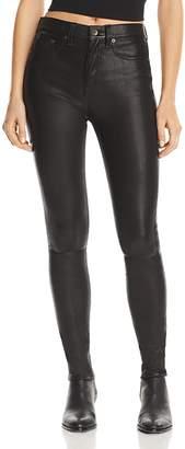 Rag & Bone High-Rise Skinny Leather Pants