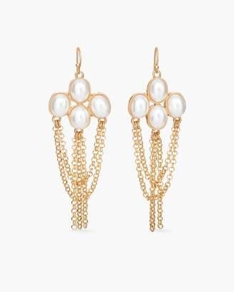 White Stone Chandelier Earrings