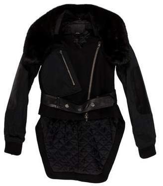 Alexander Wang Mink-Trimmed Wool Jacket