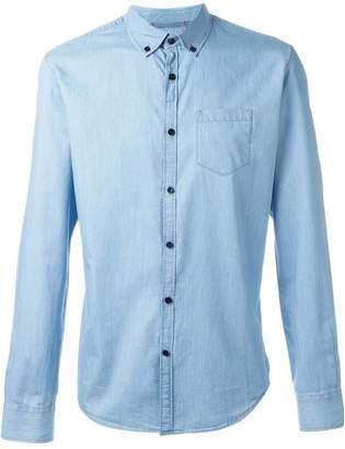 Woolrich contrast button down shirt