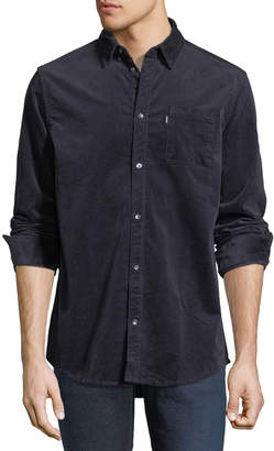 Wesc Corduroy Button-Front Shirt, Navy