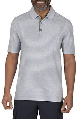 Haggar Melange Stripe Cotton Polo