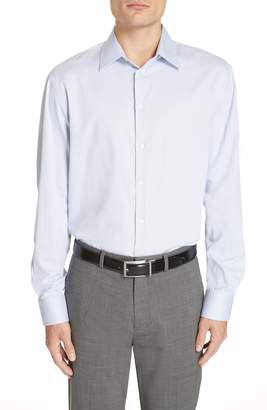 Emporio Armani Trim Fit Dot Dress Shirt