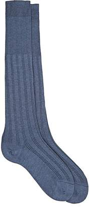 Barneys New York MEN'S RIB-KNIT OVER-THE-CALF SOCKS